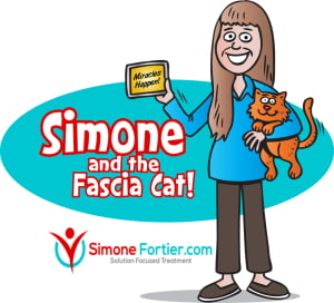Simone and the Fascia Cat first cartoon