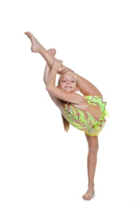girl dancer or gymnast in flexible pose